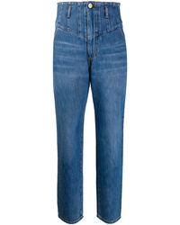 Pinko - Cropped-Jeans mit hohem Bund - Lyst