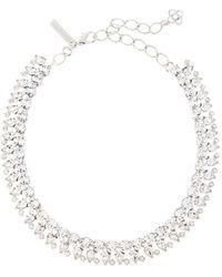 Oscar de la Renta Gem Collar Necklace - Metallic