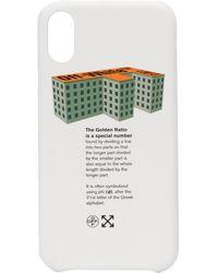 Off-White c/o Virgil Abloh Funda de iPhone XS Golden Ratio - Blanco