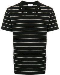AMI - ストライプ ロゴ Tシャツ - Lyst