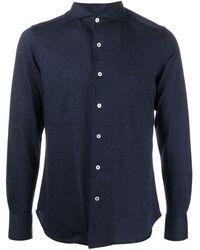 Canali フレンチカラー シャツ - ブルー