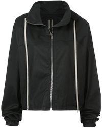 Rick Owens Drkshdw Zipped Parka Jacket - Black