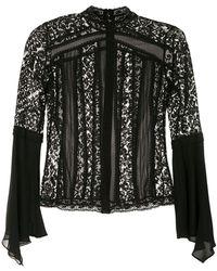 Martha Medeiros Блузка С Высоким Воротником - Черный