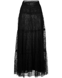 Valentino - Lace Maxi Skirt - Lyst