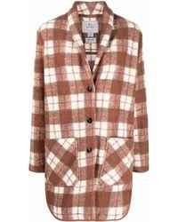 Woolrich Gentry チェック コート - ブラウン