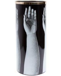 Fornasetti Porte-parapluies imprimé - Noir