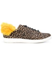 PS by Paul Smith - Faux Fur Trim Sneakers - Lyst