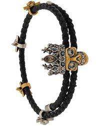 Alexander McQueen Skull Charm Bracelet - Zwart