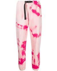 John Elliott Pantalon de jogging à motif tie-dye - Rose