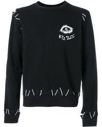 KTZ エンブロイダリー スウェットシャツ - ブラック