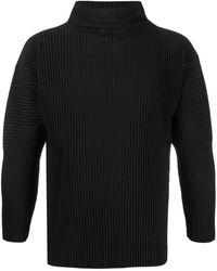 Homme Plissé Issey Miyake Plissierter Pullover - Schwarz
