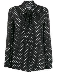 Boutique Moschino Polka Dot Blouse - Black