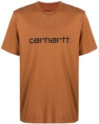 Carhartt WIP ロゴ Tシャツ - ブラウン