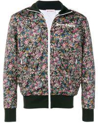 60e18e4d9cbb Lyst - KENZO Grey Muticolor Indonesian Flower Jacket in Gray for Men