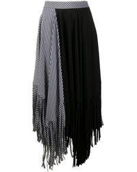 Palm Angels アシンメトリー スカート - ブラック