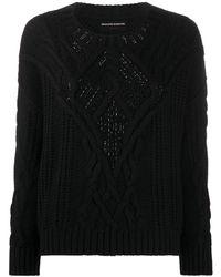 Ermanno Scervino Cable-knit Jumper - Black
