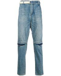 Sacai - Distressed Knee Rip Jeans - Lyst