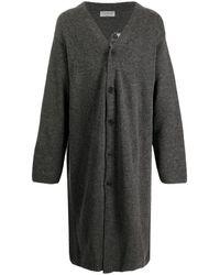Yohji Yamamoto Floral Knit Cardigan - Grey