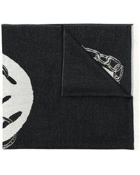 Alexander McQueen Écharpe à logo - Noir