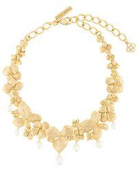 Oscar de la Renta Crystal Flower Necklace - Multicolour