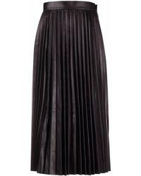 DESA NINETEENSEVENTYTWO Jupe plissée à taille haute - Noir