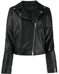 DROMe ライダースジャケット - ブラック