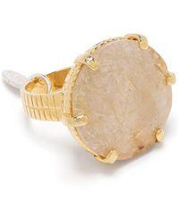Wouters & Hendrix Voyages Naturalistes Stone-embellished Ring - Metallic