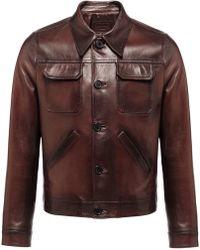 Prada - Shirt Style Leather Jacket - Lyst