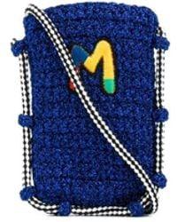 M Missoni Сумка Через Плечо С Вышитым Логотипом - Синий