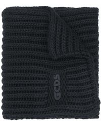 Gcds ロゴプレート スカーフ - ブラック