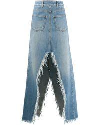 Givenchy Split Long Skirt - Blue