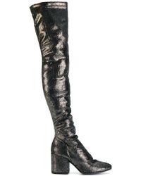Strategia - Metallic Knee Boots - Lyst