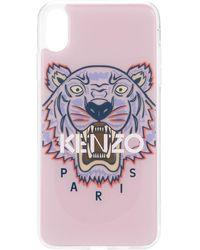 KENZO Coque d'iPhone XS Max à logo - Rose