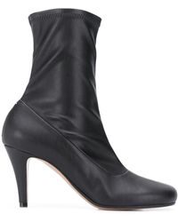 Maison Margiela Leather Sock Boots - Black