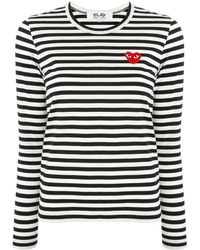 COMME DES GARÇONS PLAY ロゴパッチ Tシャツ - ブラック