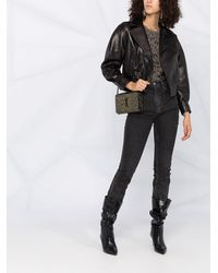Saint Laurent Байкерская Куртка - Черный