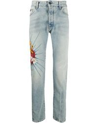 Palm Angels - Sacred Heart Jeans - Lyst