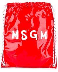 MSGM - Rugzak Met Contrasterend Logo - Lyst