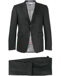 Thom Browne ストライプ スーツ - グレー