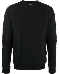 Balmain パデッド ロゴ スウェットシャツ - ブラック