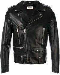 Saint Laurent Байкерская Куртка На Молнии - Черный