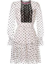 Temperley London Polka Dot Dress - White