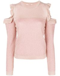 Twin Set - Ribbed Cut-out Top - Lyst