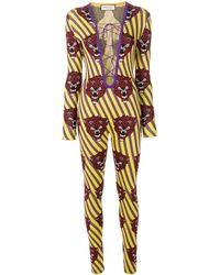 Gucci Комбинезон С Изображением Тигров - Многоцветный