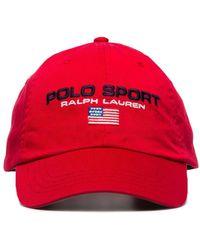 Polo Ralph Lauren Бейсболка С Вышитым Логотипом - Красный