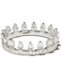 Annoushka 18kt White Gold Crown Diamond Ring - Multicolor
