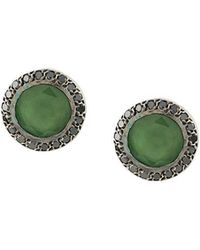 Rosa Maria - Serpentine And Diamond Studs - Lyst