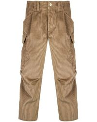 LC23 - Corduroy Cargo Trousers - Lyst