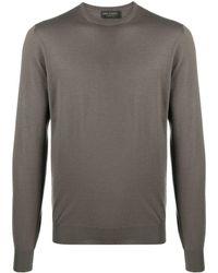 Dell'Oglio リブカフス セーター - ブラウン