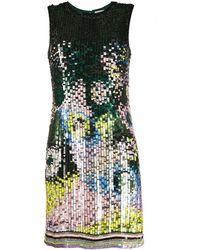 Emilio Pucci Платье Мини С Пайетками - Зеленый